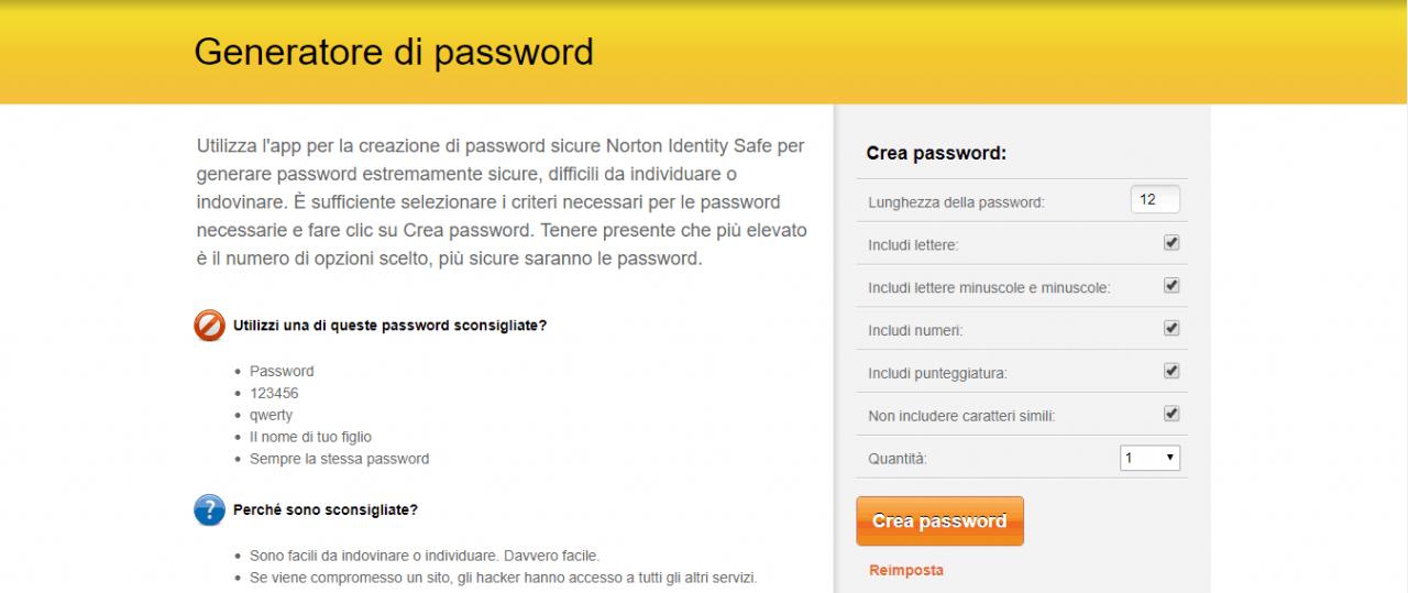 Come generare una password sicura