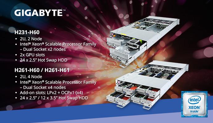 GIGABYTE espande la gamma di server