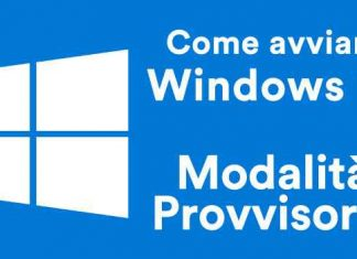 Avviare la modalità provvisoria di Windows 10