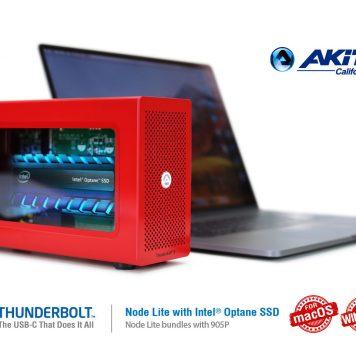 Akitio Node Lite con Intel Optane 905P